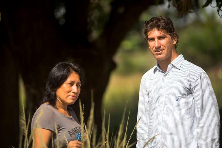 Sabina Valdez y Francisco Román, artífices del cambio en Madre de Dios. Foto: Walter Silvera