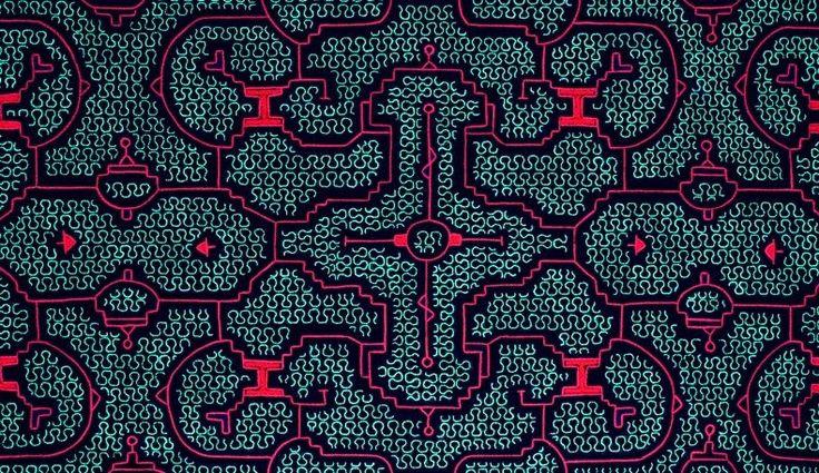 Diseños kené de la nación shipibo conibo. Foto tomada de Internet.