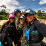 Río Misahualli con las chicas de Ecuado