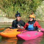 Río Pachachaca con sobrino Leonardo de Ugarte - Foto Zacarías de Ugarte