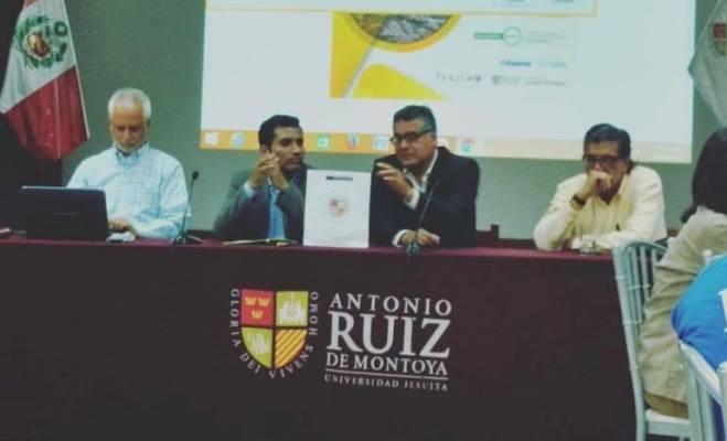 Ricardo Bohl. Miguel Ángel Barrientos, Guillermo Reaño y Elías Mujica en el primer Café Turismo de la UARM.