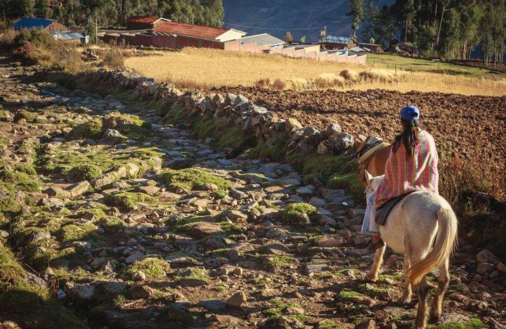 Tramo Hupanuco Pampa . Huamachuco, trazo de camino en la zona de Soledad de Tambo, Huari - Ancash. Foto Ministerio de Cultura.