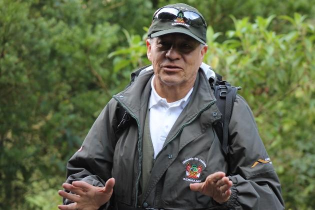 Ing° Amílcar Osorio, jefe del Santuario Nacional de Ampay / SERNANP. Foto Programa Bisques Andinos.