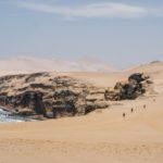 El mar de los antiguos paracas, fue el escenario ideal para el despliegue físico de estos chasquis del siglo XXI. Foto MDS Perú.