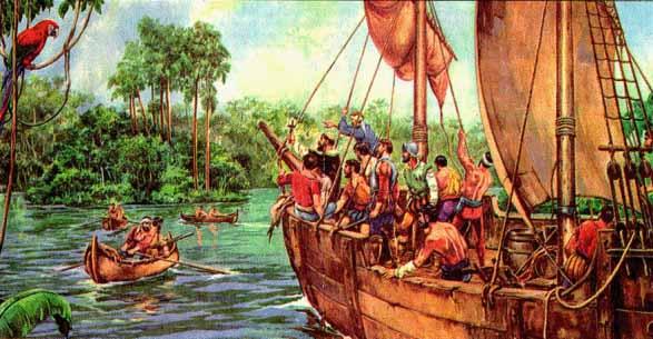 Descubrimiento del río Amazonas. Tomado de Internet.