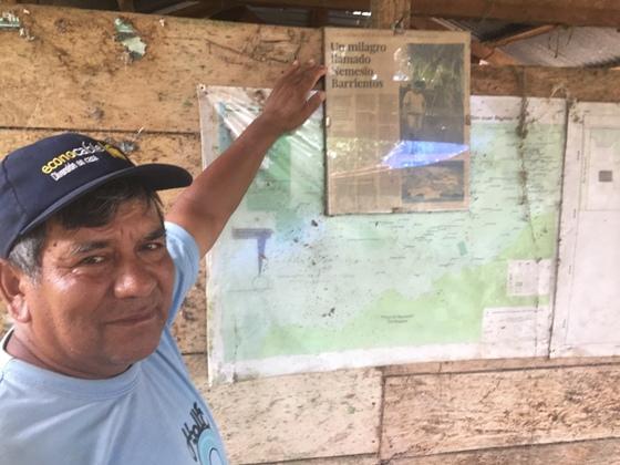 Nemesio Barrientos, propietario de la ACP San Juan Bautista.Foto Viajeros.